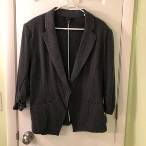 Charcoal Gray Knit Blazer